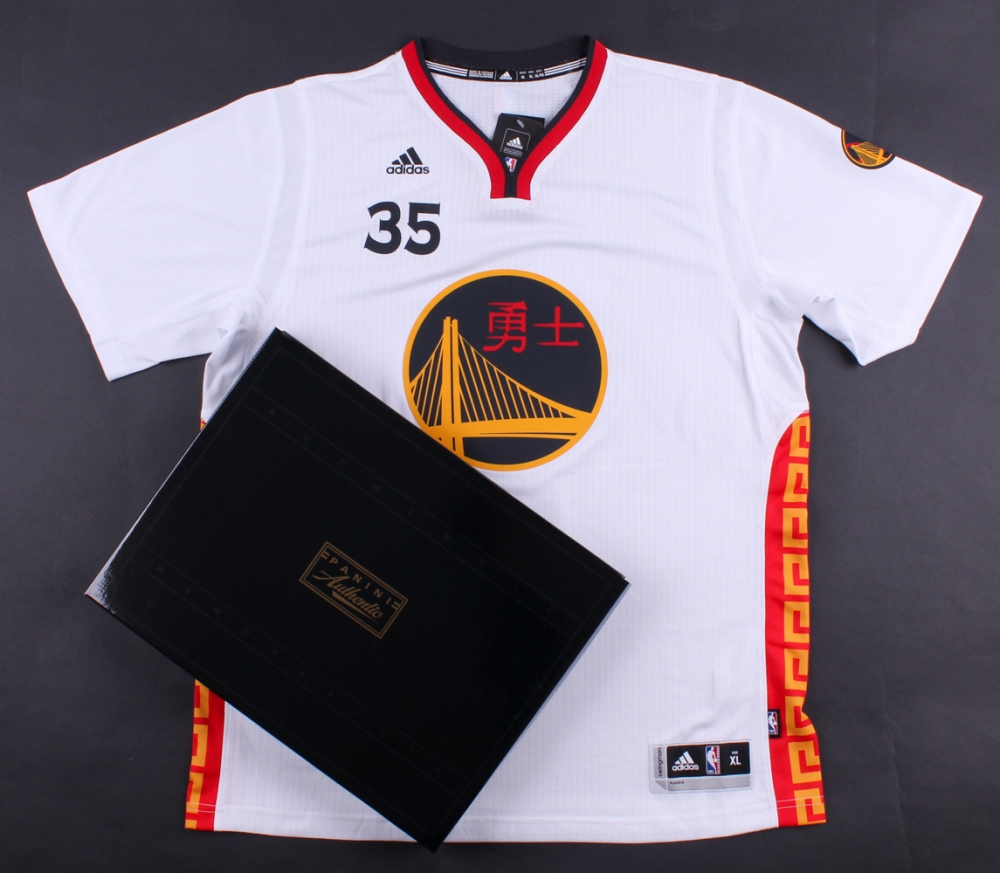 kevin durant signed warriors chinese new years adidas jersey panini coa at pristineauction - Warriors Chinese New Year Jersey