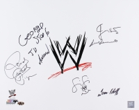 "WWE 16x20 Photo Signed by (6) with Ivan Koloff, Roddy Piper, Jimmy Hart, Fifi the Maid, George ""The Animal"" Steel & Bruno Sammartino (MAB Hologram)"