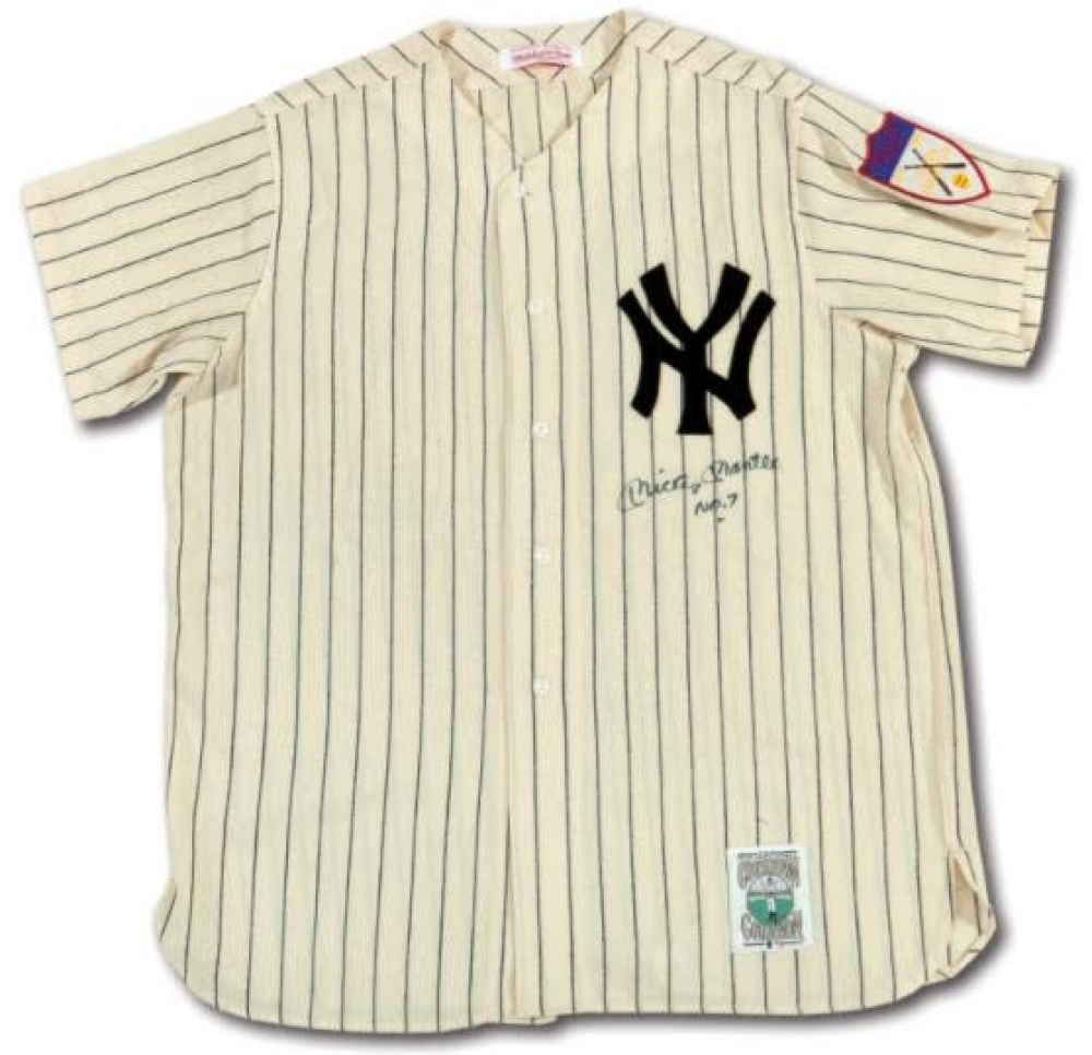 Mickey Mantle Signed 1951 Yankees Home Mitchell   Ness Custom Framed Jersey  Display (PSA LOA 9a274db5964