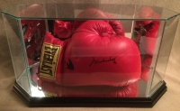 """Muhammad Ali Signed Everlast Boxing Glove Inscribed """"97"""" with High Quality Display Case (PSA LOA)"""