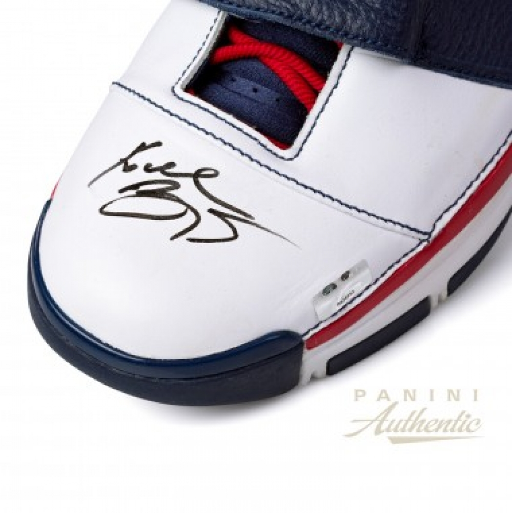 10a01f94416f Kobe Bryant Signed Team USA Pair of (2) Nike Zoom Kobe 2 Strength Shoes