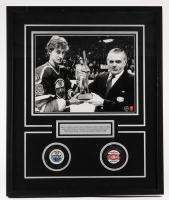"Wayne Gretzky & Maurice Richard Signed 21""x 25.5"" x 1.5"" Custom Framed Shadowbox Hockey Puck Display (WG COA)"
