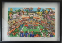 "Charles Fazzino Signed Limited Edition ""Go-Go Gators"" 3D Pop Art Serigraph #3/350"