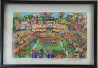 "Charles Fazzino Signed Limited Edition ""Go-Go Gators"" 3D Pop Art Serigraph #3/350"