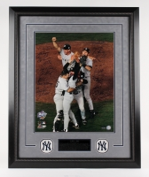 "1998 Yankees World Series Champions LE 25"" x 32"" Custom Framed Photo Display Team-Signed by (24) With Darryl Strawberry, Derek Jeter (Steiner COA)"