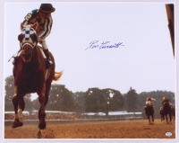 """Ron Turcotte Signed 16x20 Photo """"Looking Back"""" on Secretariat at Belmont Stakes (SOP COA) at PristineAuction.com"""