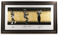 "Muhammad Ali, Michael Jordan & Tiger Woods Signed  LE 33.5"" x 57"" 'Legends of Sport' Custom Framed Lithograph Display (UDA COA)"