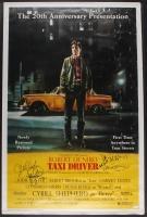 """Robert De Niro, Cybill Shepherd, Jodie Foster, & Martin Scorsese Signed """"Taxi Driver"""" 27""""x41"""" Poster (JSA LOA)"""