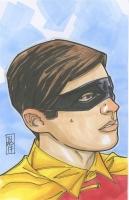 "Robin (Burt Ward) ""Batman"" 1/1 ORIGINAL 5.5"" x 8.5"" Color Drawing - Hand-Drawn & Signed by Tom Hodges"