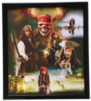 "Johnny Depp Signed ""Pirates of the Carribean""  22"" x 27"" Custom Framed Photo Display (PSA COA)"