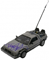 "Michael J. Fox Signed ""Back to the Future"" DeLorean Time Machine 1:24 Diecast Car (Beckett COA)"