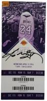 "Kobe Bryant Signed Lakers 3"" x 6.75"" Final Game Ticket Stub (JSA LOA)"