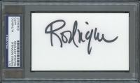 "George Rodrigue Signed 3""x5"" Cut (PSA Encapsulated)"