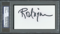 "George Rodrigue Signed 3""x5"" Cut (PSA Encapsulated)"