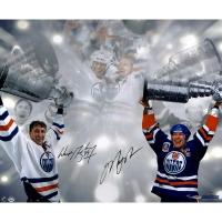 Wayne Gretzky & Mark Messier Signed LE Oilers Stanley Cup 16x24 Photo (UDA COA & Steiner COA)