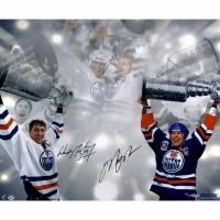 Wayne Gretzky & Mark Messier Signed Oilers Stanley Cup LE 16x24 Photo (UDA COA & Steiner COA)