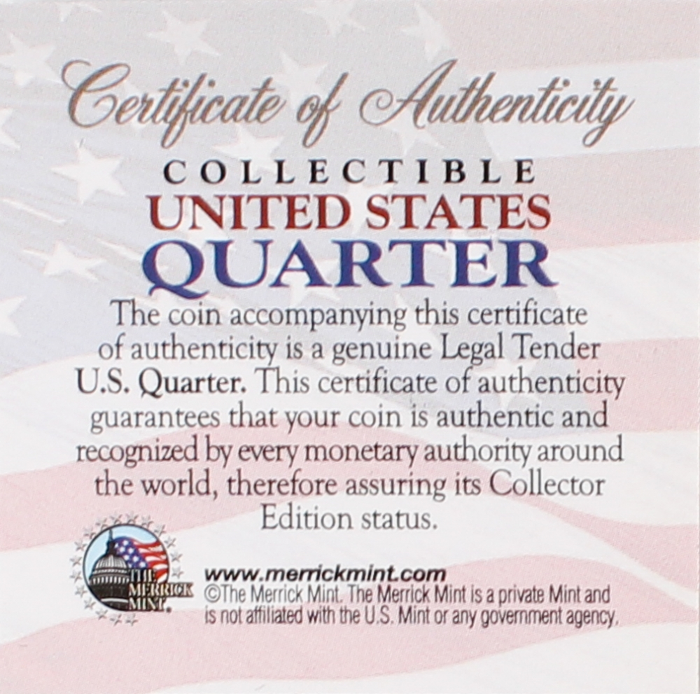 Online sports memorabilia auction pristine auction 10th anniversary world trade center 911 colorized 2001 new york statehood quarter at pristineauction xflitez Gallery