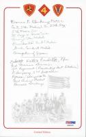 "Francis Ebankamp & Keifer Marshall Signed 5.5"" x 8.5"" Bookplate with Inscriptions (PSA COA)"
