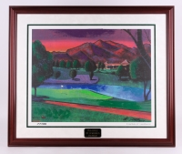 """William 'Bill' Lopa Signed and Hand-Embellished LE '17th Golf Hole' 33"""" x 39"""" Custom Framed AROC Display Inscribed """"2010"""""""