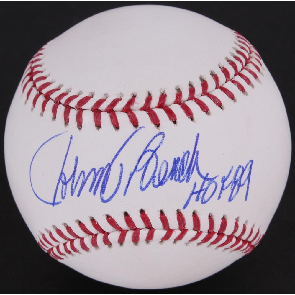 Johnny Bench Autographed Baseball 28 Images Johnny Bench Autographed Signed Mlb Baseball