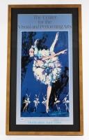 "LeRoy Neiman Signed Prima Ballerina Assoluta 20.5"" x 35.5"" Custom Framed Fine Art Print Display (PSA COA)"