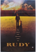 "Rudy Ruettiger Signed Rudy 27"" x 40"" Movie Poster Photo Inscribed ""Never Quit!"" (JSA Hologram)"