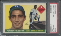 1955 Topps #123 Sandy Koufax RC (PSA 8) (OC)