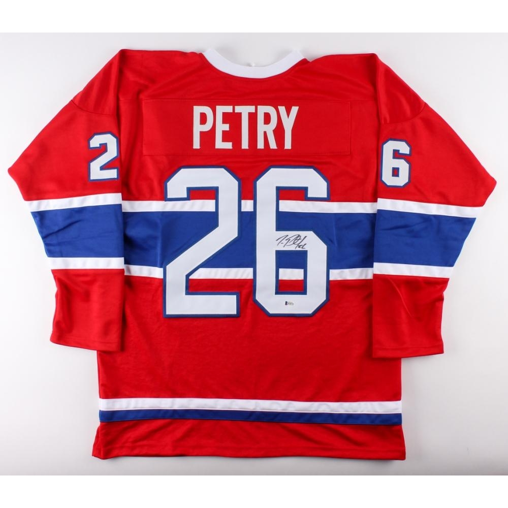 Jeff Petry Signed Canadiens Jersey Beckett Coa Pristine Auction