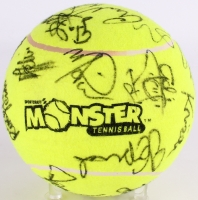 2002 Acura Classic WTA Tournament Over-Sized Tennis Ball Signed by (25) with Anna Kournikova, Jennifer Capriati, Lindsay Davenport, Mary Pierce, Conchita Martinez (JSA ALOA)