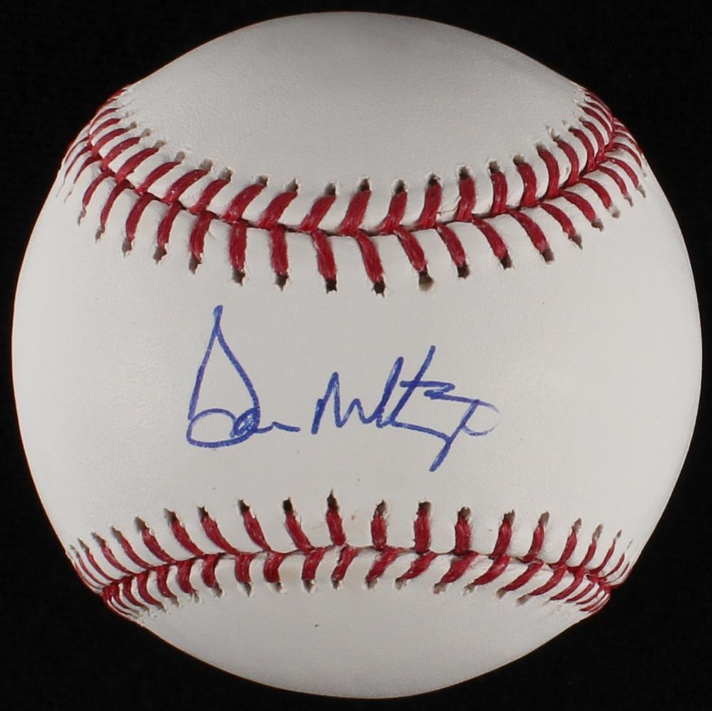 Don Mattingly Signed Oml Baseball Jsa Coa Pristine Auction