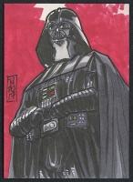 "Darth Vader ""Star Wars"" Sketch Card by Tom Hodges (1/1 Original Art) at PristineAuction.com"