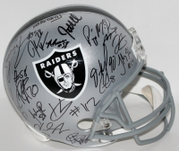 2016 Raiders Full-Size Helmet Team Signed by (35) with Derek Carr, Khalil Mack, David Amerson, Amari Cooper (JSA ALOA)