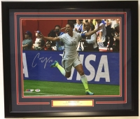 Carli Lloyd Signed 2015 World Cup Celebration 22x27 Custom Framed Photo Display (PSA COA)