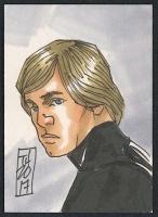 "Luke Skywalker ""Star Wars"" Sketch Card by Tom Hodges (1/1 Original Art)"