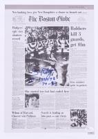 "Bill Rodgers Signed 11x15 Newspaper Print Inscribed ""1st- 1975-78"" & ""79-80"" (JSA COA)"