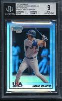 2010 Bowman Chrome 18U USA Baseball Refractors Bryce Harper (BGS 9)