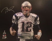 "Tom Brady Signed LE Patriots ""Scream"" 32"" x 40"" Stretched Canvas #1/12 (TriStar & Steiner COA)"