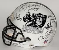"Multi-Signed Raiders ""Heisman Trophy"" Full-Size Authentic Pro-Line Helmet with (5) Signatures Including Jim Plunkett, Bo Jackson, Billy Cannon, Marcus Allen & Tim Brown (JSA COA & Jackson Hologram)"