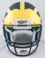 Jim Harbaugh Signed Michigan Wolverines Custom Matte Navy Blue Full-Size Helmet (PSA COA & TSE) at PristineAuction.com