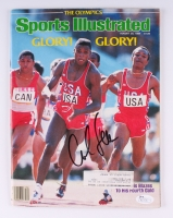 Carl Lewis Signed 1984 Sports Illustrated Magazine (JSA COA)