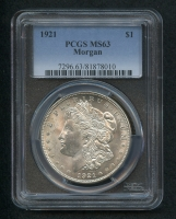 1921 Morgan Silver Dollar (PCGS MS63)