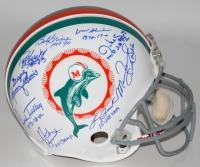 1972 Dolphins Full-Size Authentic Pro-Line Helmet Team-Signed by (9) with Bob Griese, Larry Csonka, Manny Fernandez, Mercury Morris, Jake Scott (Steiner COA)