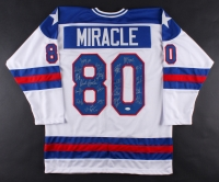 "1980 Team USA ""Miracle on Ice"" Jersey Signed by (20) Including Mike Eruzione, Jim Craig, Jack O'Callahan, Ken Morrow (JSA COA)"