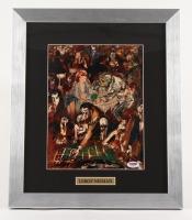 "LeRoy Neiman Signed ""The Gambling Set"" 14.5"" x 16.5"" Custom Framed Print Display (PSA COA)"