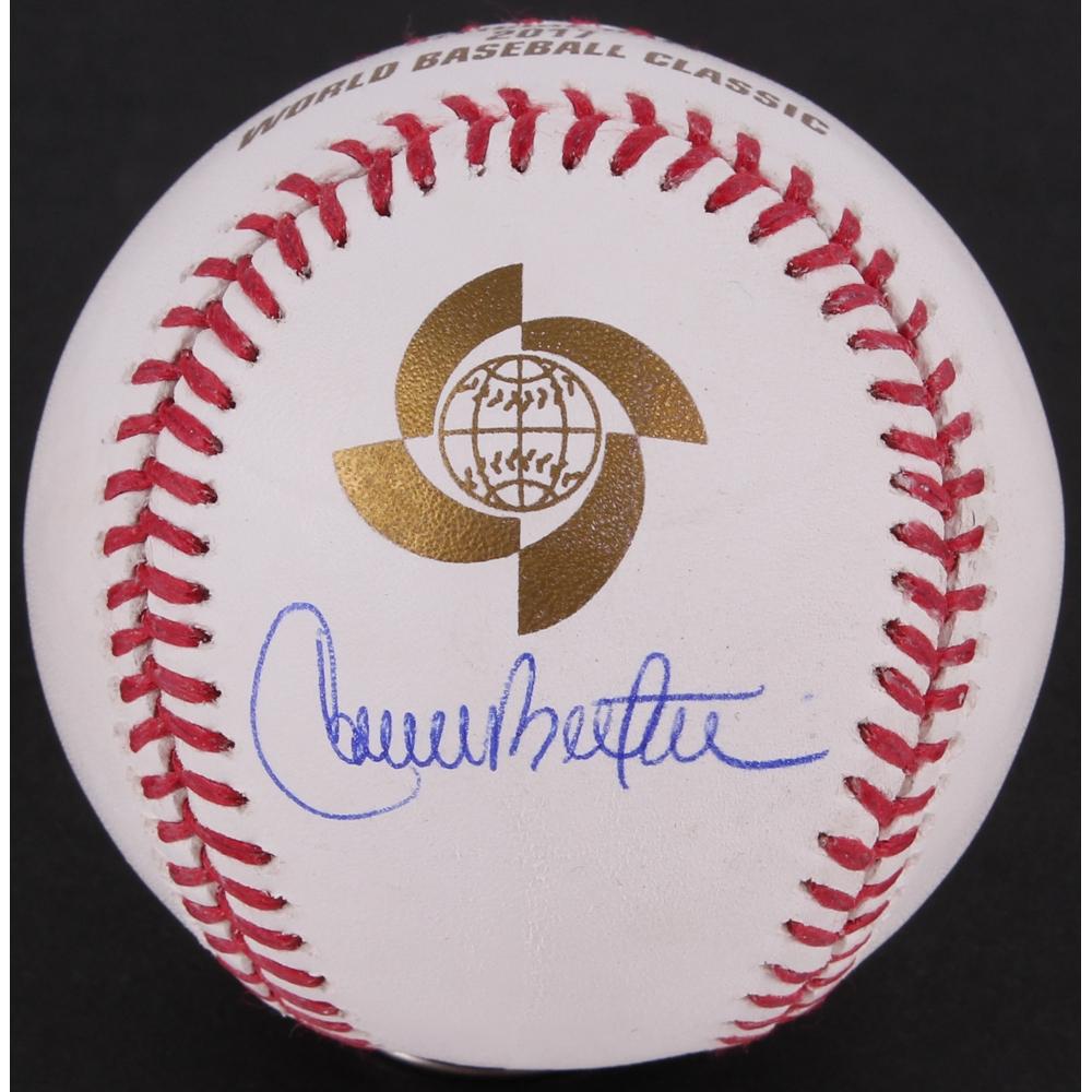 Carlos Beltran Signed 2017 Wbc Baseball Jsa Hologram
