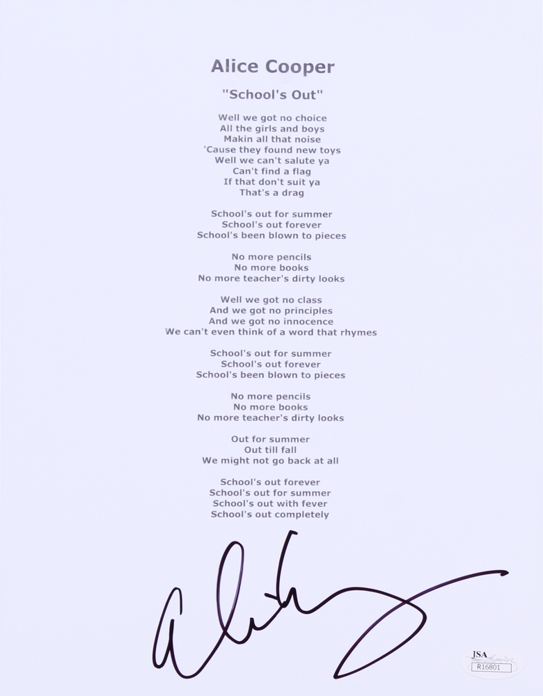 a012e831314f Alice Cooper Signed