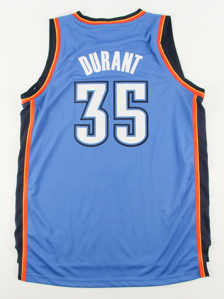 c90b53651da Kevin Durant Signed LE Thunder Adidas Jersey with 2013-2014 MVP Patch  Inscribed
