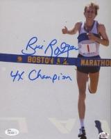 "Bill Rodgers Signed 8x10 Photo Inscribed ""4x Champion"" (JSA COA)"