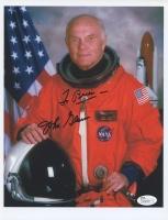 John Glenn Signed NASA 8x10 Photo with Inscription (JSA COA)
