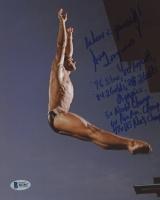 Greg Louganis Signed 8x10 Photo With Inscriptions (Beckett COA)